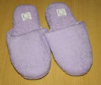 Lavender Towelling Slippers - Size 7/8